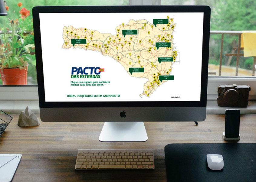 Labbo desenvolve animação interativa em HTML5 para o Pacto das Estradas.