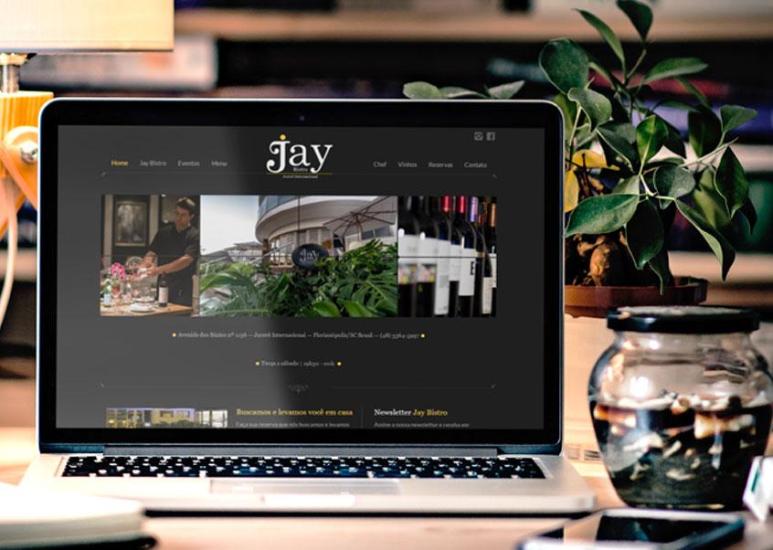 Jay Bistro marca sua presença online com site desenvolvido pela Labbo